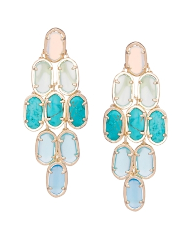 Embry Chandelier Earrings in Blue Marine