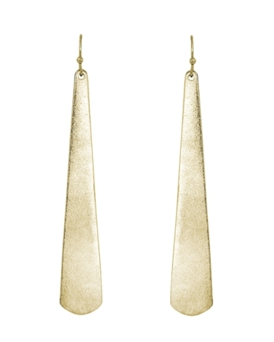 Evan Long Earrings in Gold