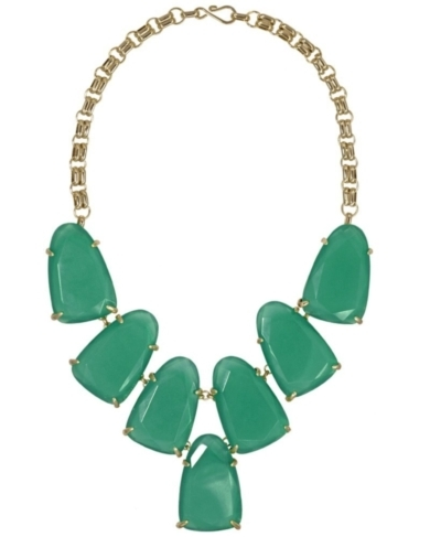 Harlow Statement Necklace in Green