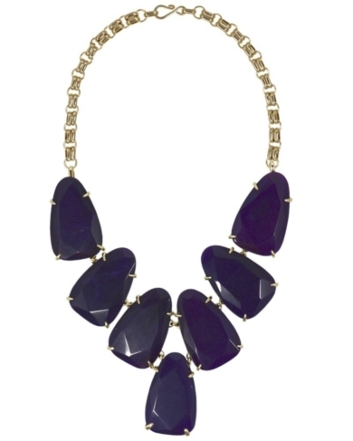Harlow Statement Necklace in Purple