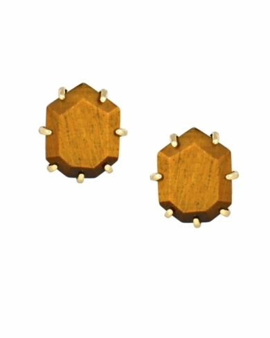 Morgan Stud Earrings in Tigers Eye