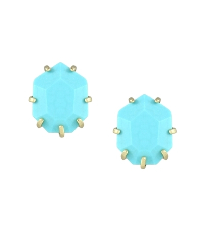 Morgan Stud Earrings in Turquoise