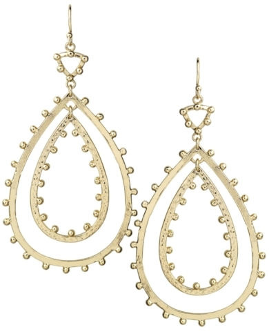 Rumer Statement Earrings in Gold