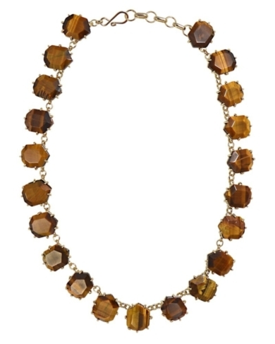 Sam Necklace in Tigers Eye