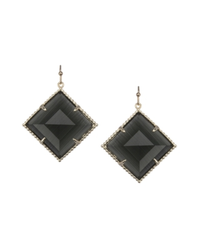 Scarlett Drop Earrings in Black