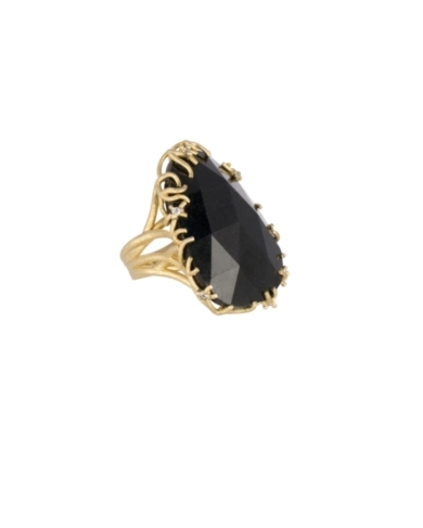 Stone Nest Cocktail Ring in Black Tourmaline - 6