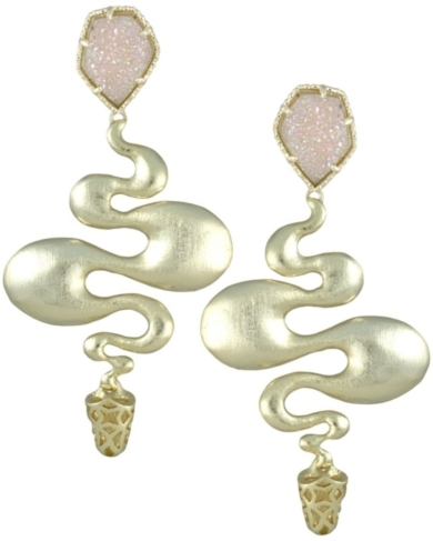Sydney Statement Earrings in Iridescent Drusy