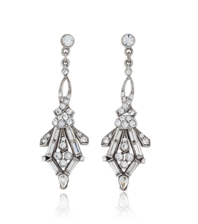 Ben Amun 1920s Style Juliet Crystal Earrings