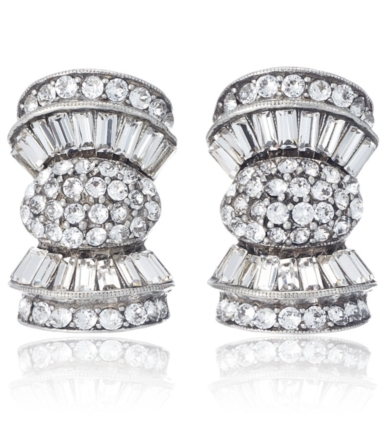 Ben Amun Crystal Deco Bow Earrings