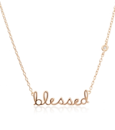 Shy by Sydney Evan Shy by Sydney Evan Blessed Necklace Yellow Gold
