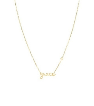 Shy by Sydney Evan Shy by Sydney Evan Grace Necklace Yellow Gold