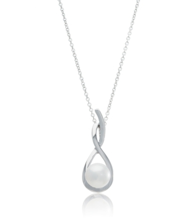 Thomas Laine Pearl Sterling Silver Pearl Swirl Necklace