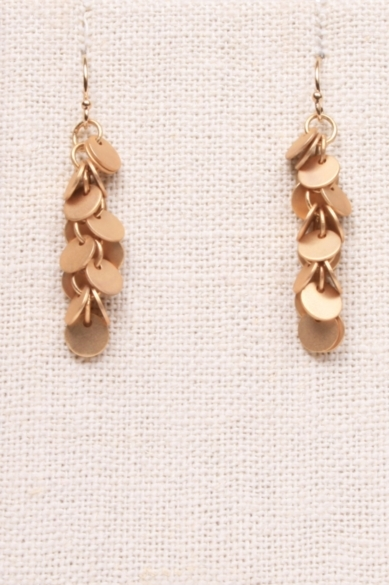 Multi-Gold Disc Earrings