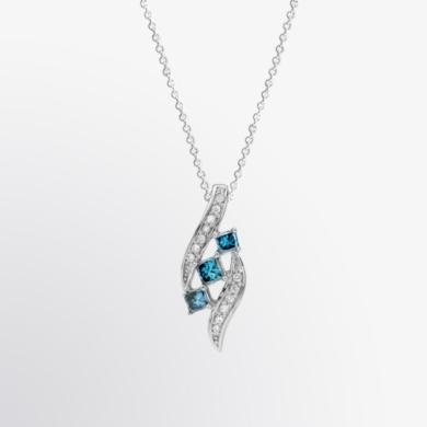 Blue Diamond and Diamond Journey Pendant