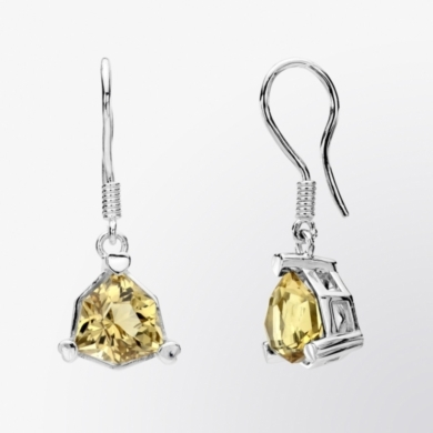 Champagne Quartz Drop Earrings