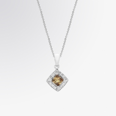 Classic Brown Diamond and Diamond Pendant