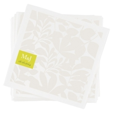 Floral Monogram -- Custom Wedding Napkins