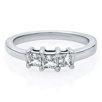 1/2 ct. tw. Three-Stone Diamond Anniversary Ring in 14K Gold