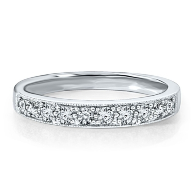 1/3 ct. tw. Diamond Anniversary Band with Milgrain in 14K Gold