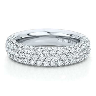 Diamond Anniversary Band from the Vibrant Collection, Artiste by Scott Kay