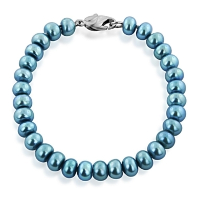 Honora 7-8MM Rondelle Freshwater Cultured Pearl Bracelet in Sterling Silver, 7.5""