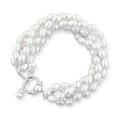 Honora Cultured Pearl Strand Bracelet in Sterling Silver