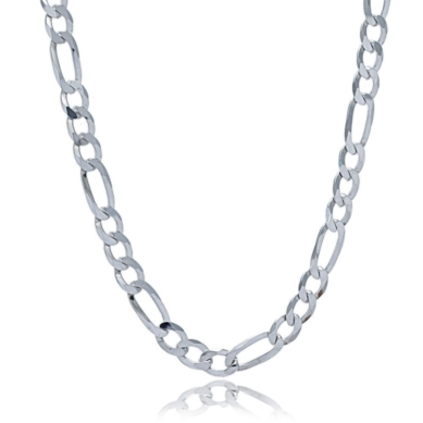 Men's Figaro Chain in Sterling Silver, 24""