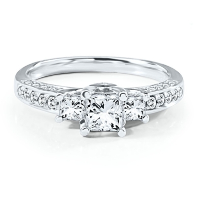 Radiant Star 1 ct. tw. Diamond Engagement Ring in 14K Gold