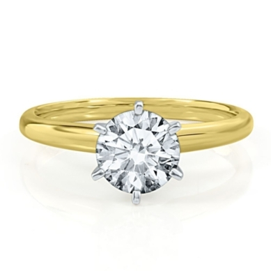 Solitaire Symphonies 1 1/2ct Prima Diamond Engagement Ring in 14K Gold