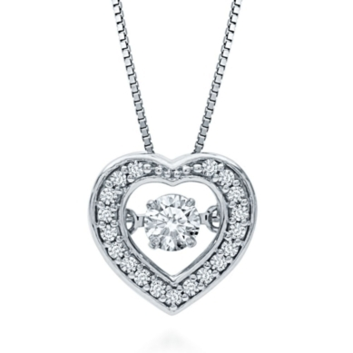 The Beat of Your HeartTM 1/4 ct. tw. Diamond Heart Pendant in 10K Gold