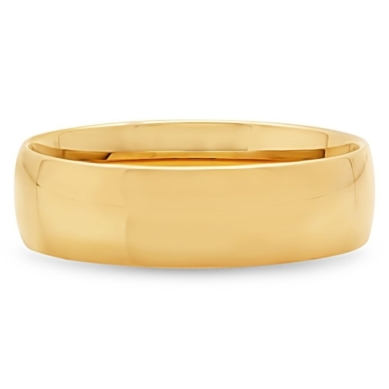 Wedding Band in 14K Gold, 6MM