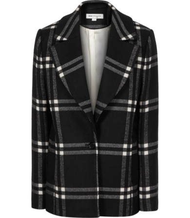 Reiss Adelle Check-print Tailored Coat