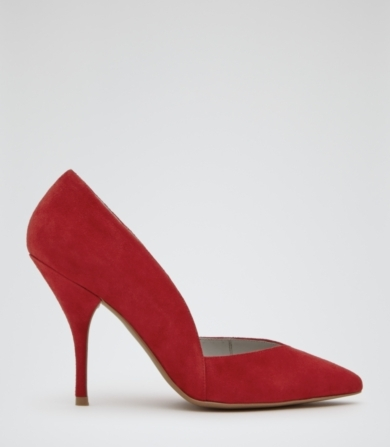 Reiss Arya Suede Court Shoes