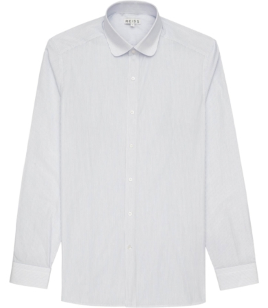Reiss Bravo Stripe Curved Collar Shirt