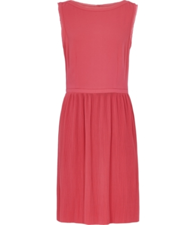 Reiss Copper Fluid Pleated Dress