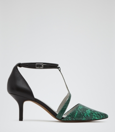 Reiss Eden Double Ankle Strap Court Shoes