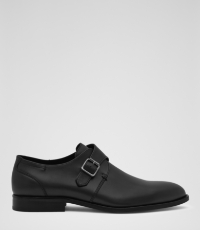 Reiss Foster Single Monk Strap Shoes