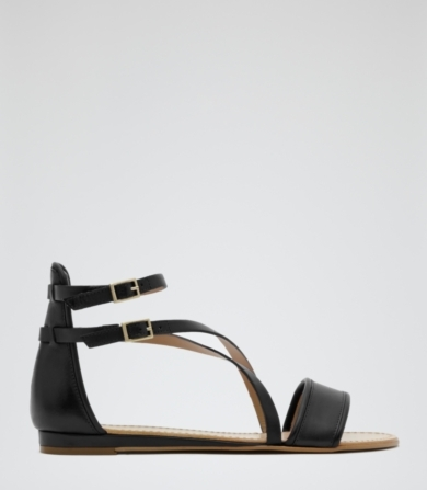 Reiss Serena Double Strap Flat Sandals