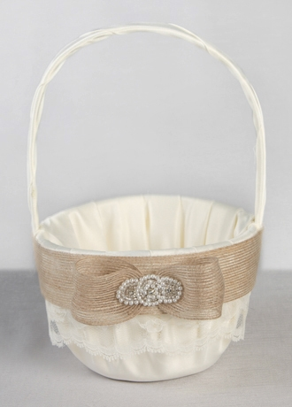 Country Chic Flower Girl Basket