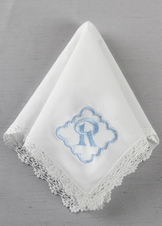 DB Exc Personalized Scalloped Border Hankie