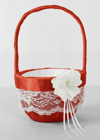 DB Exclusive Floral Lace Flower Girl Basket
