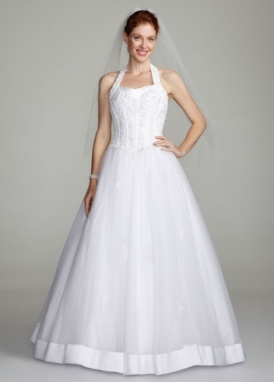 Halter Sweetheart Tulle Ball Gown