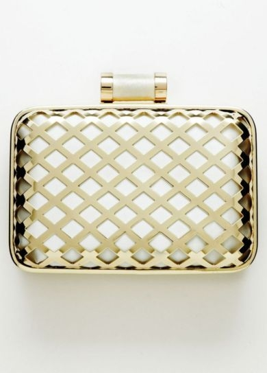 La Regale Minaudiere Handbag with Lattice Hardware