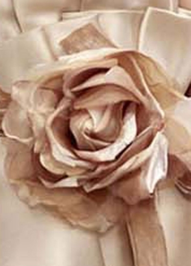 Organza and Velvet Rose Clip