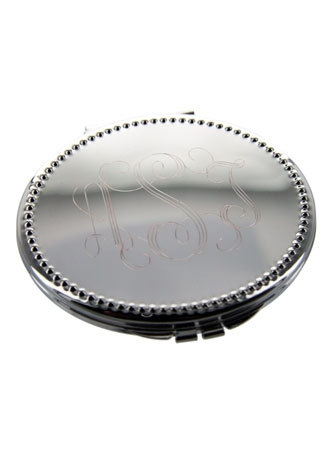 Personalized Oval Compact Mirror