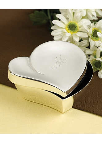 Personalized Swirl Heart Jewelry Box