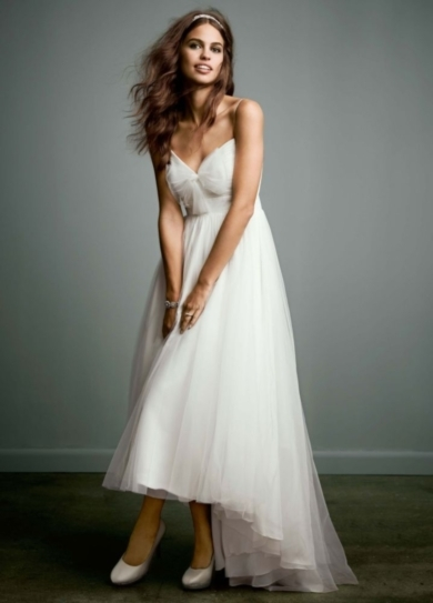 Show me your short dresses please the knot for Tulle high low wedding dress