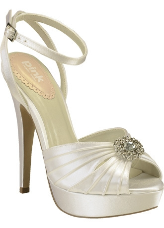 Wedding & Bridesmaid Shoes Pink Paradox London Pleated Platform Sandal