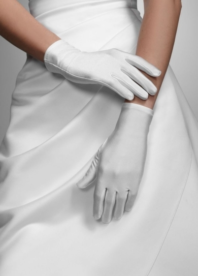 Wrist Length Satin Glove