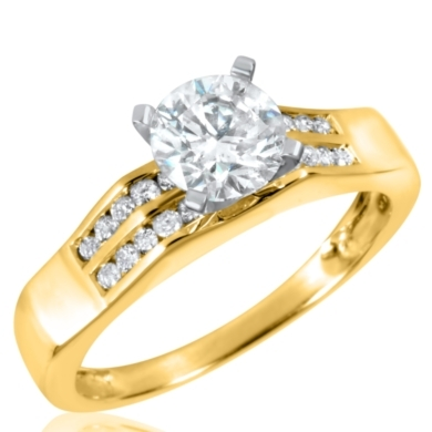 1 1/5 CT. T.W. Diamond Ladies Engagement Ring 10K Yellow Gold